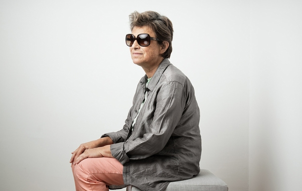 Chantal Akerman in Locarno. Photo by Sandro Baebler, agency: modds